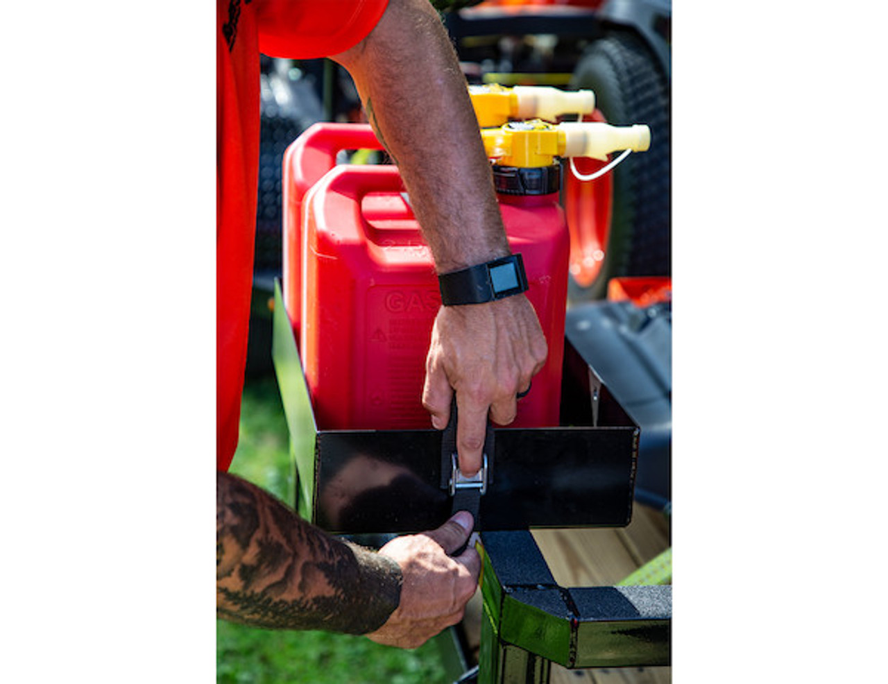 Buyers LT30 Gas Container Rack For Landscaping Trailers, Garages, Sheds, Construction Vehicles Picture # 6