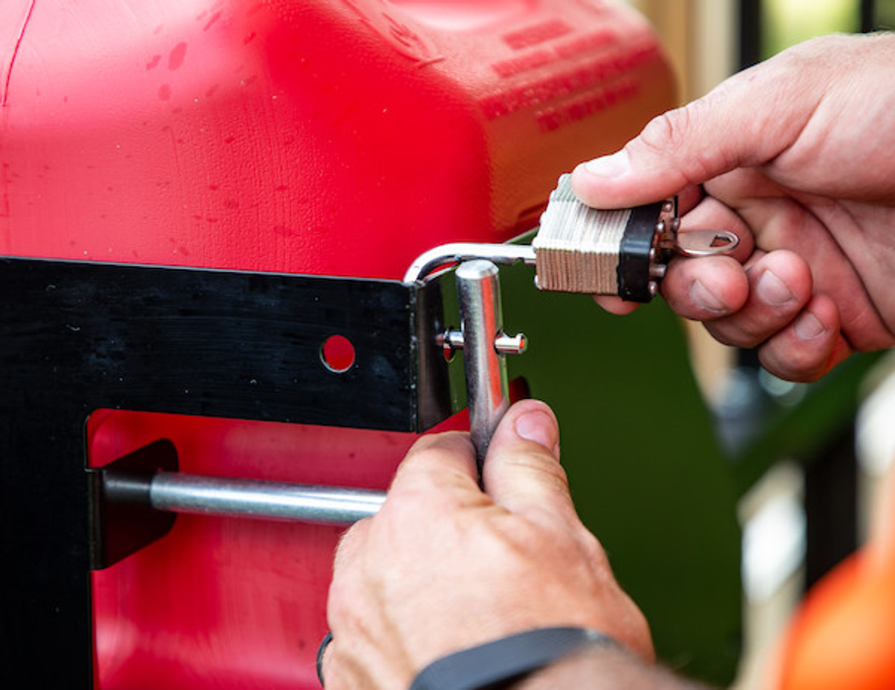 Buyers LT32 Locking Gas Container Rack For Landscaping Trailers, Garages, Sheds, Construction Vehicles Picture # 5