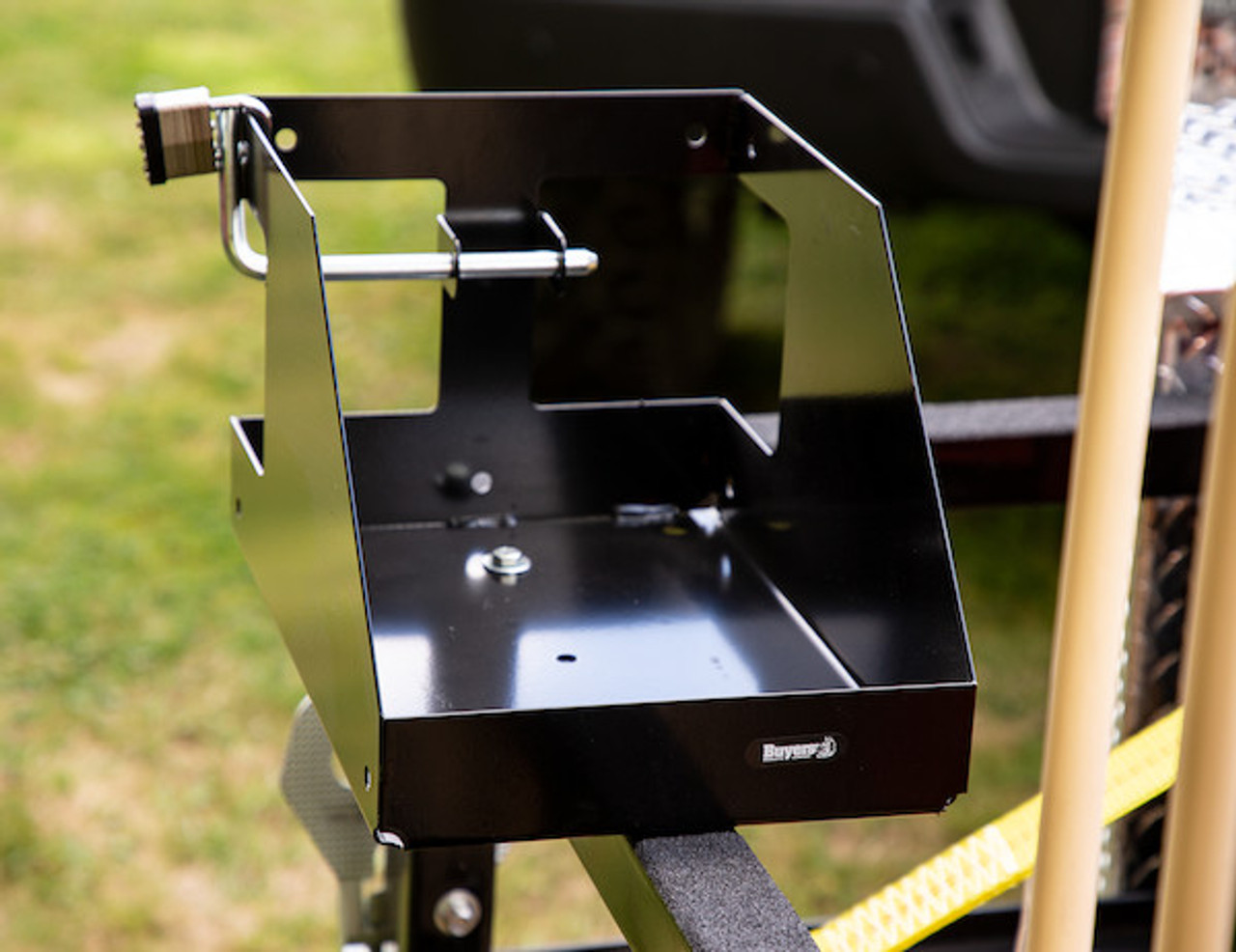 Buyers LT32 Locking Gas Container Rack For Landscaping Trailers, Garages, Sheds, Construction Vehicles Picture # 7