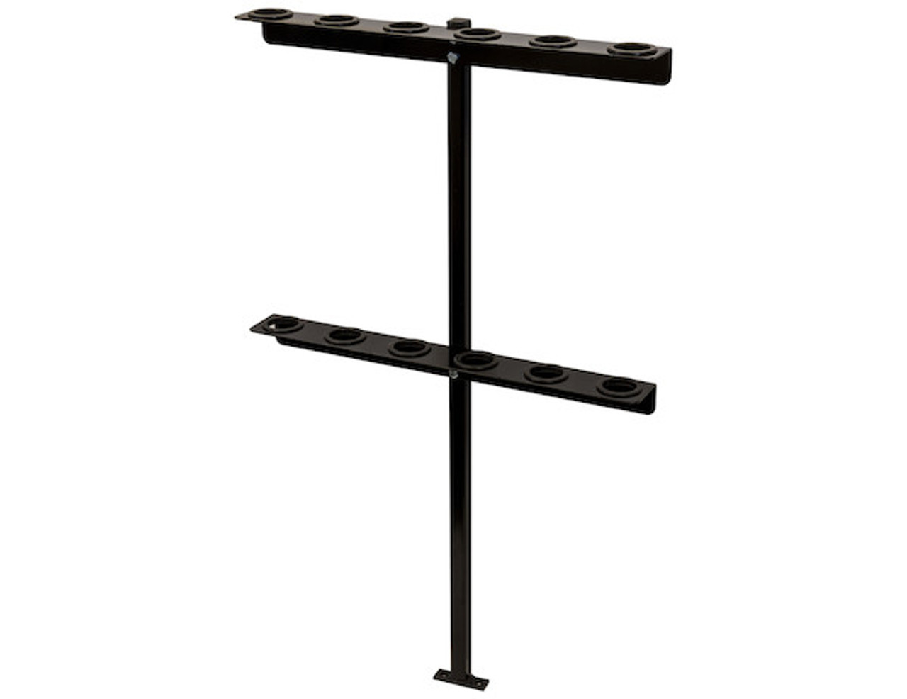 Buyers LT35 Vertical Hand Tool Rack for Landscaping Trailers, Garages, Sheds, Construction Vehicles Picture # 1