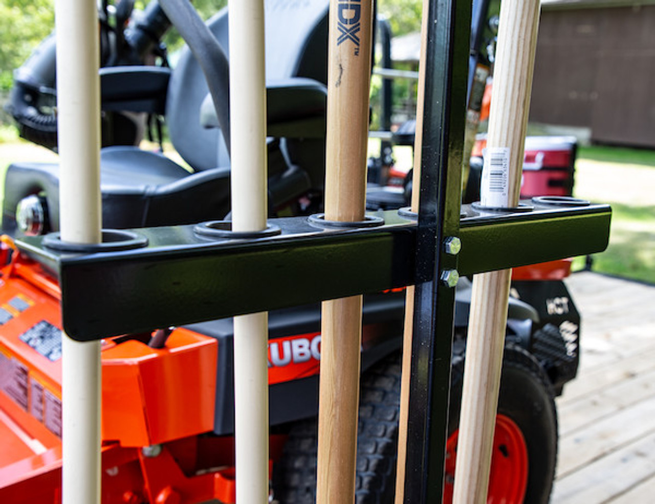 Buyers LT35 Vertical Hand Tool Rack for Landscaping Trailers, Garages, Sheds, Construction Vehicles Picture # 4