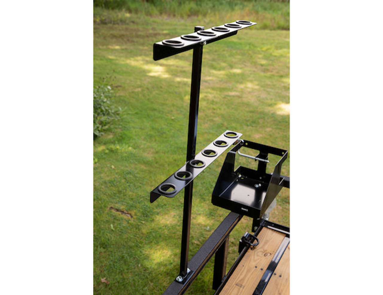 Buyers LT35 Vertical Hand Tool Rack for Landscaping Trailers, Garages, Sheds, Construction Vehicles Picture # 2