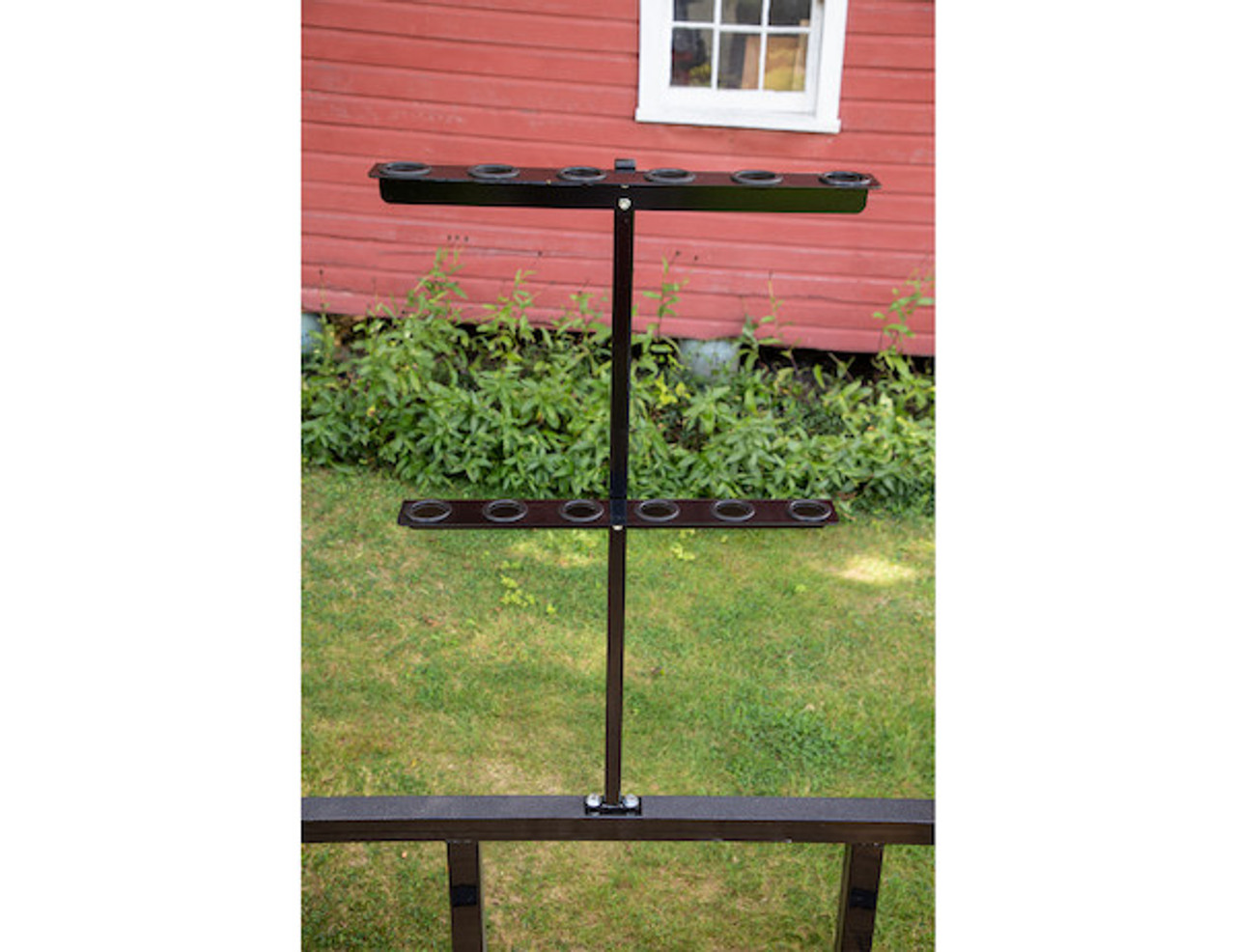 Buyers LT35 Vertical Hand Tool Rack for Landscaping Trailers, Garages, Sheds, Construction Vehicles Picture # 7