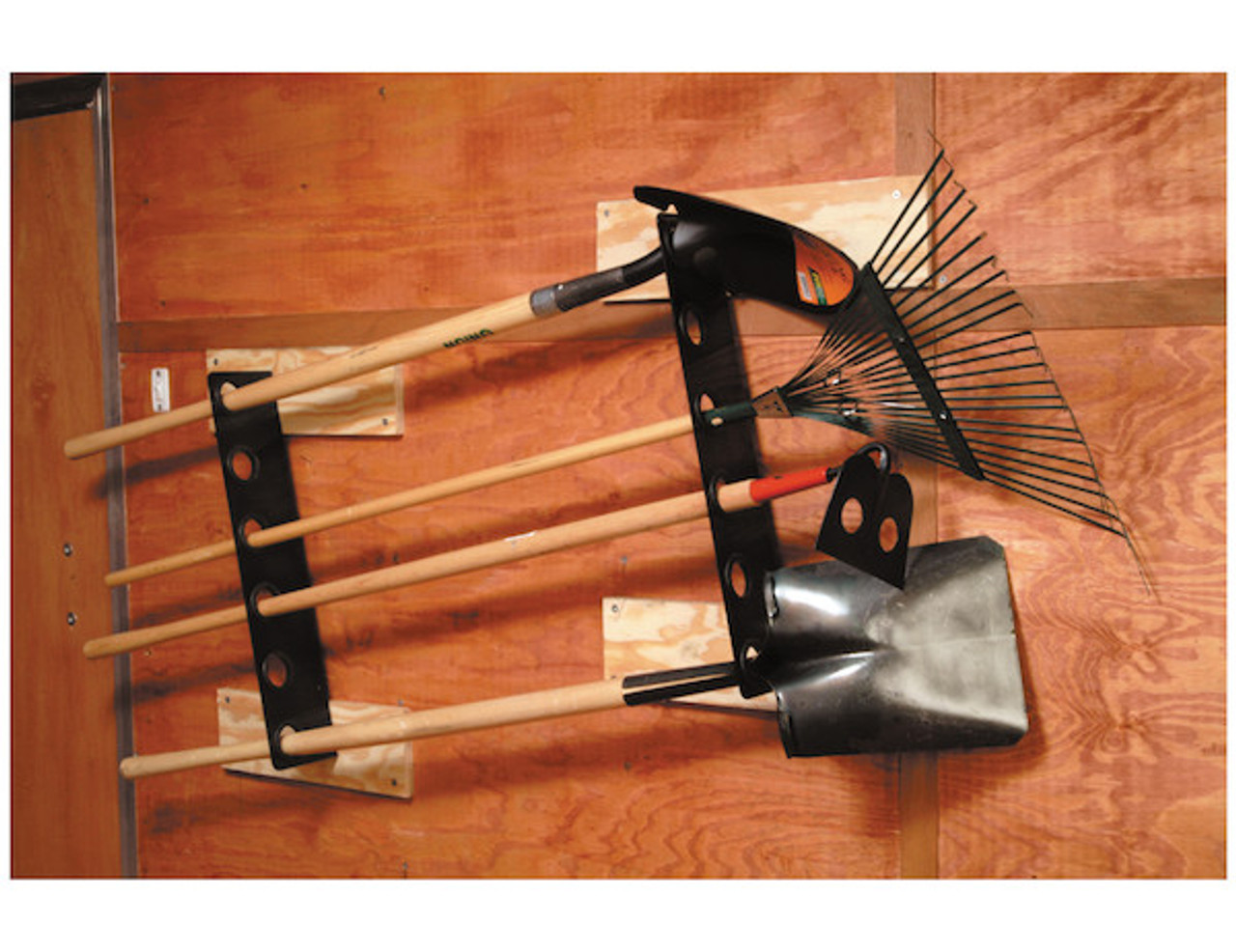Buyers LT37 Horizontal Hand Tool Rack for Landscaping Trailers, Garages, Sheds, Construction Vehicles Picture # 1