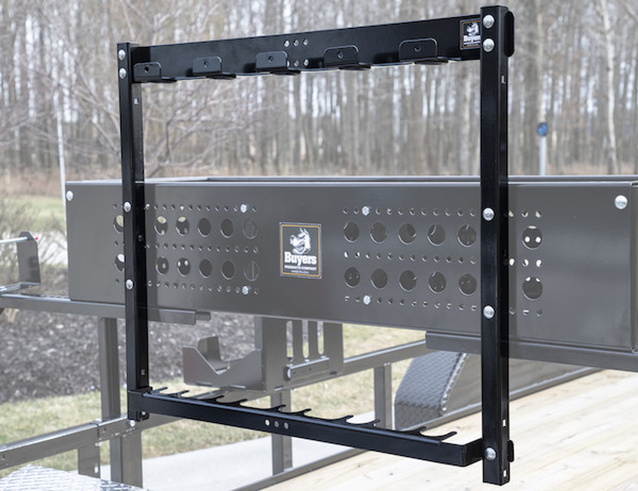 Buyers LT46 5 Position Vertical Hand Tool Rack For Open Landscape Trailers Picture # 2