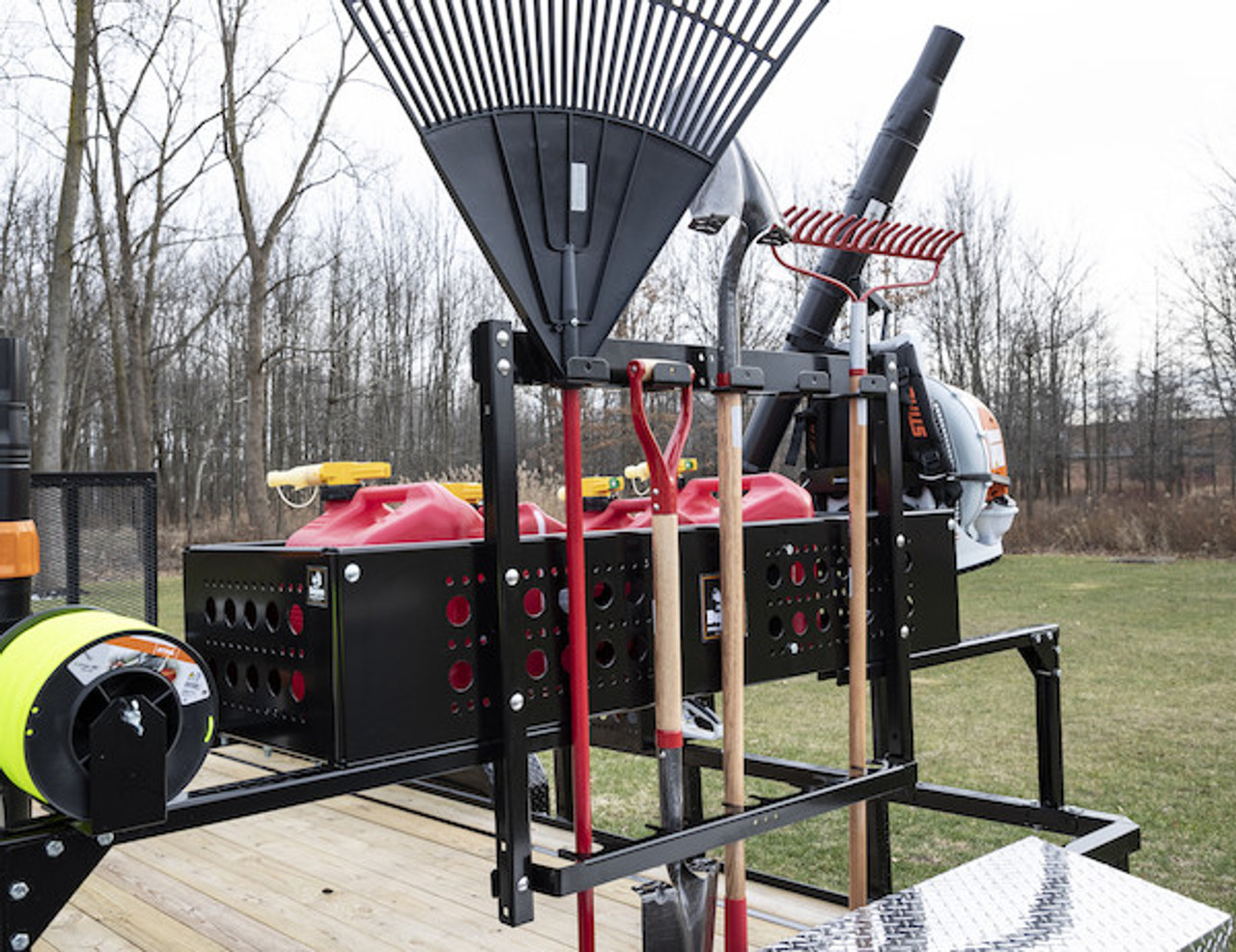 Buyers LT46 5 Position Vertical Hand Tool Rack For Open Landscape Trailers Picture # 3