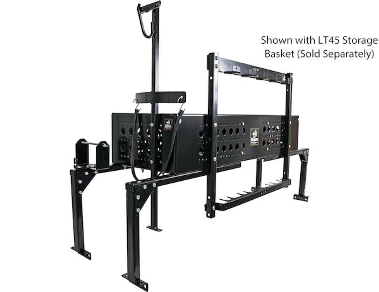 Buyers LT46 5 Position Vertical Hand Tool Rack For Open Landscape Trailers Picture # 6 Sold with LT45 Storage Basket (Sold Separately)