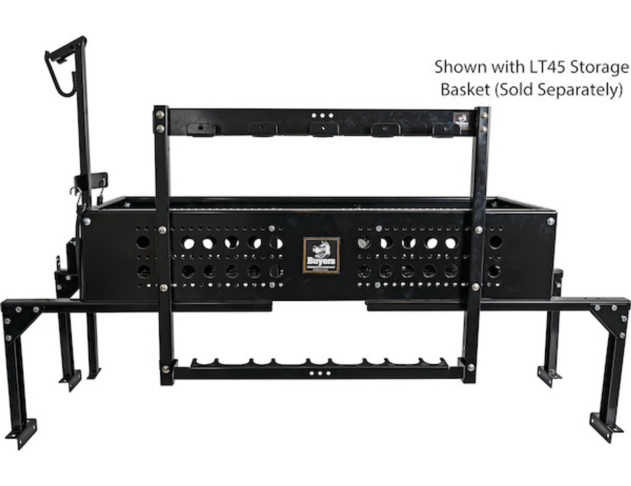 Buyers LT46 5 Position Vertical Hand Tool Rack For Open Landscape Trailers Picture # 8 Sold with LT45 Storage Basket (Sold Separately)