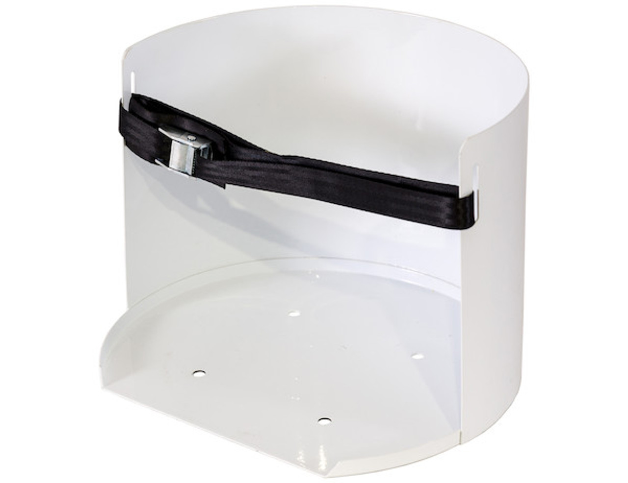 Buyers 5201005 White Steel 5 Gallon Water Cooler Mount for Landscaping Trailers, Garages, Sheds, Work Trucks Picture # 1