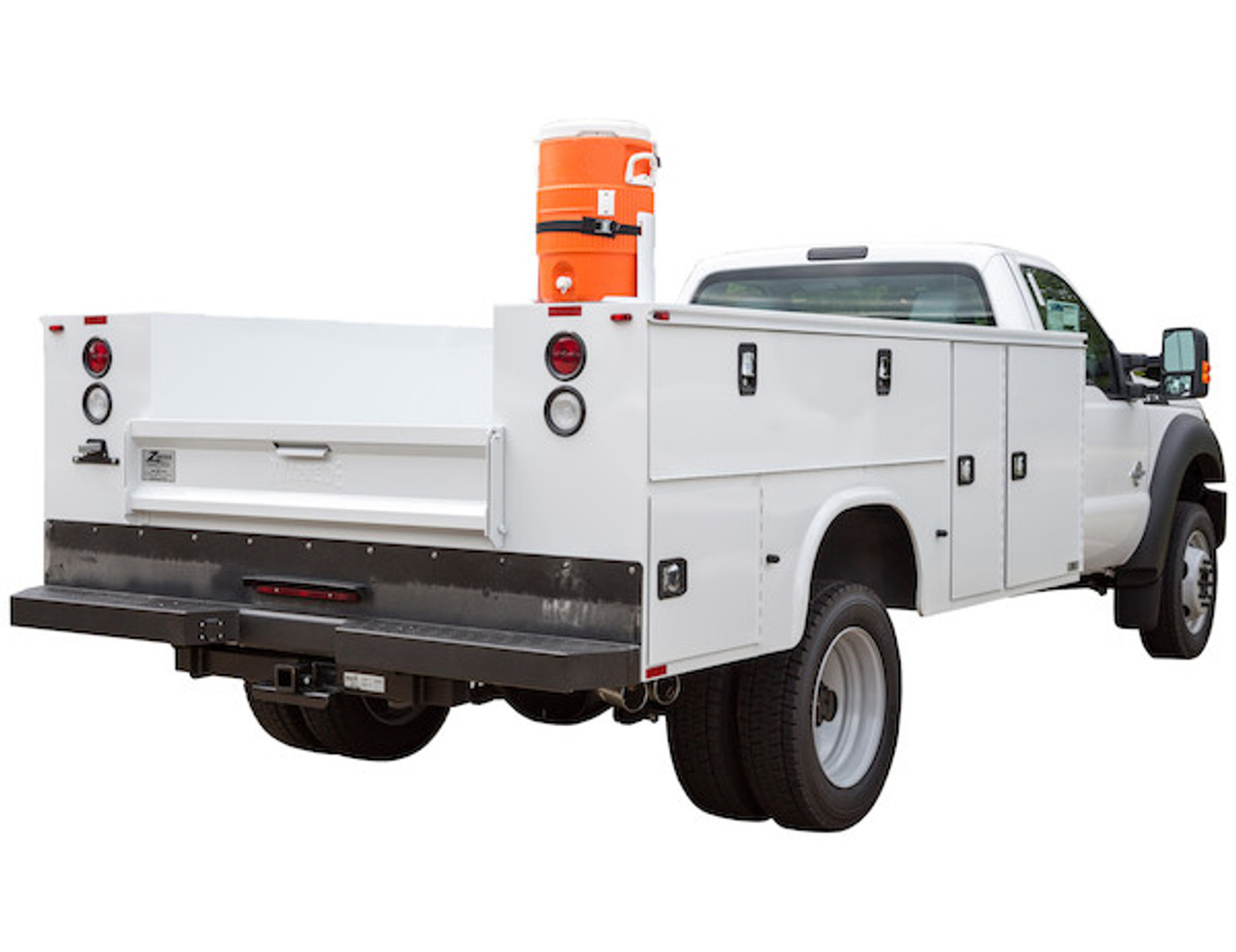 Buyers 5201005 White Steel 5 Gallon Water Cooler Mount for Landscaping Trailers, Garages, Sheds, Work Trucks Picture # 2