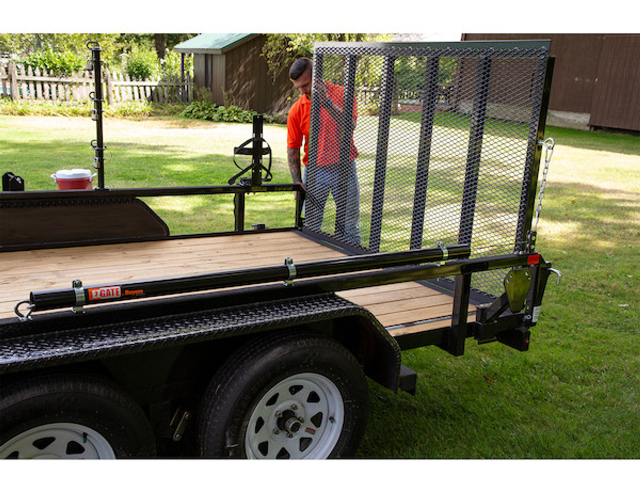 Buyers 5201000 EZ Gate™ Tailgate Assist for Landscaping Trailers and Open Style Trailers Picture # 10