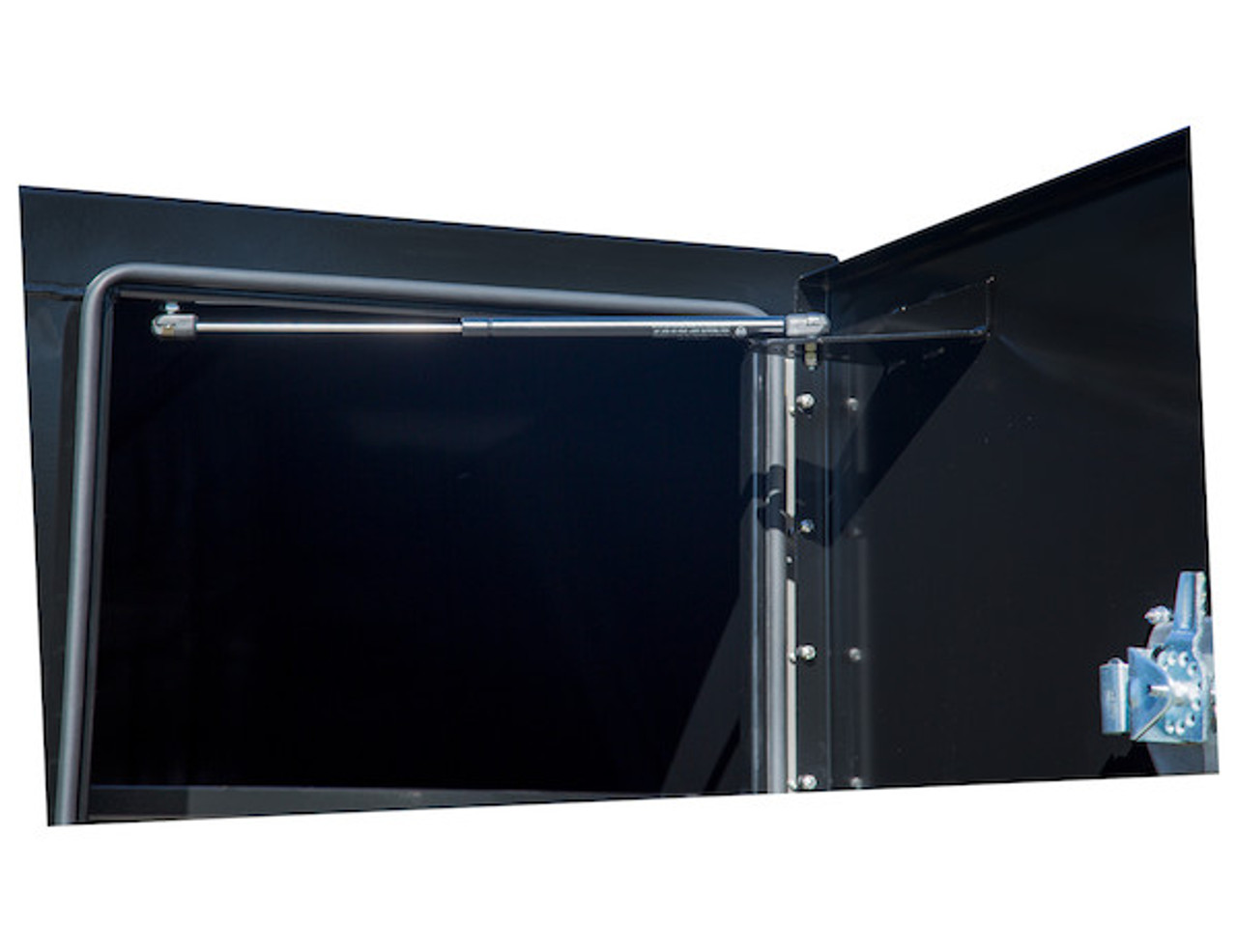 """BP964824BLL Buyers Black Steel Straight Side Backpack Truck Toolbox - Compression Latch 48""""Hx24""""Dx96""""W Picture # 4"""