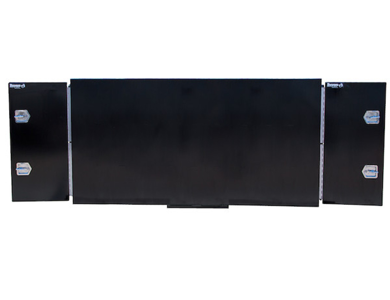 """BP964824BLL Buyers Black Steel Straight Side Backpack Truck Toolbox - Compression Latch 48""""Hx24""""Dx96""""W Picture # 5"""