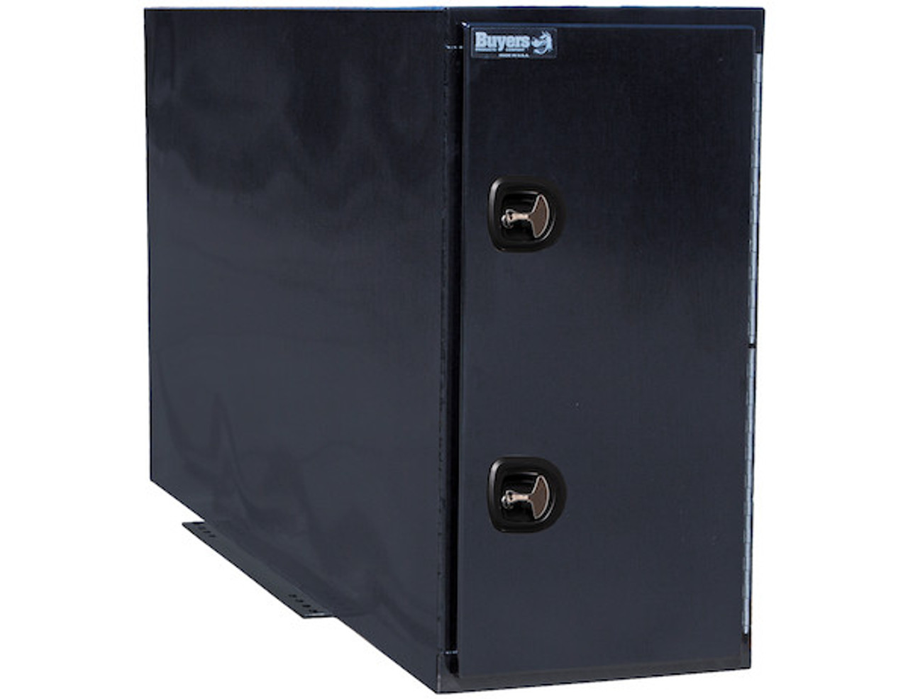 """BP964824BLL Buyers Black Steel Straight Side Backpack Truck Toolbox - Compression Latch 48""""Hx24""""Dx96""""W Picture # 1"""