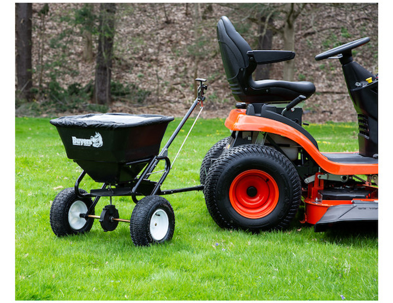 Buyers TB150BG Tow Behind Broadcast Spreader for small tractors, utility vehicles and ATVs Picture # 2