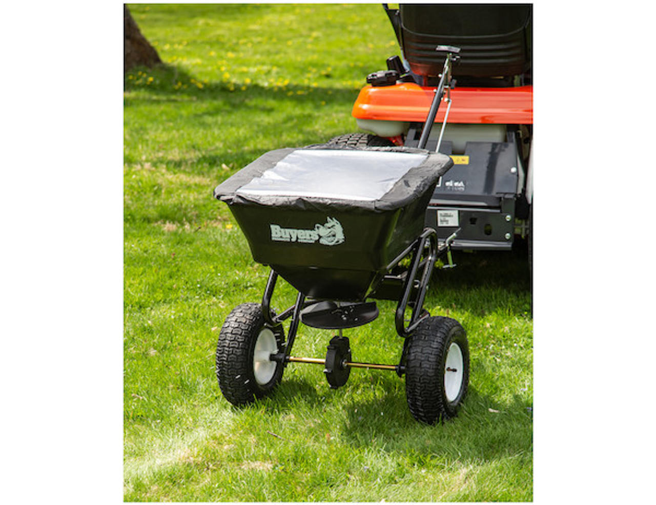 Buyers TB150BG Tow Behind Broadcast Spreader for small tractors, utility vehicles and ATVs Picture # 6