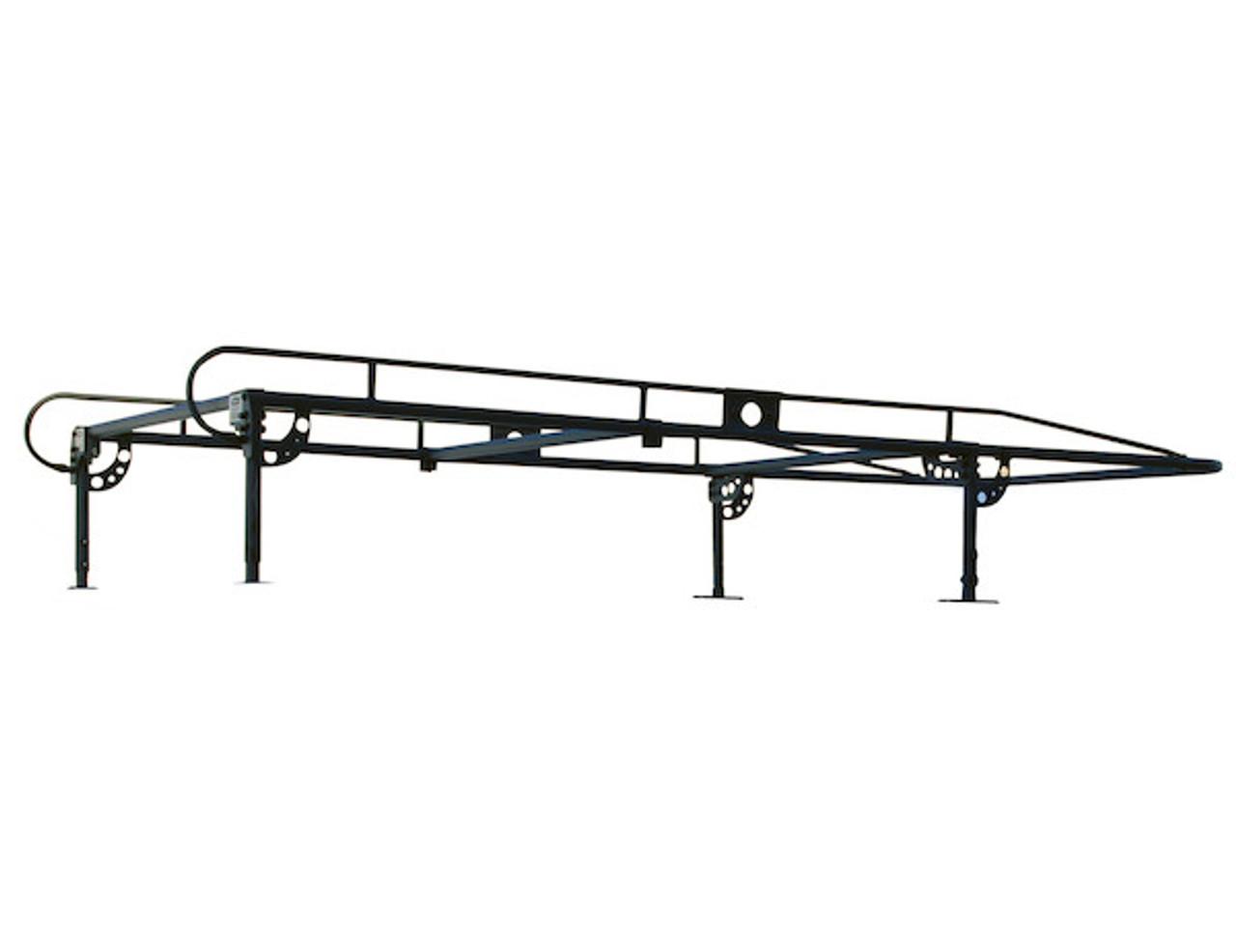 BUYERS 1501250 13-1/2 Foot Black Service Body Ladder Rack for Movers, Contractors, Construction, Painters Picture # 1