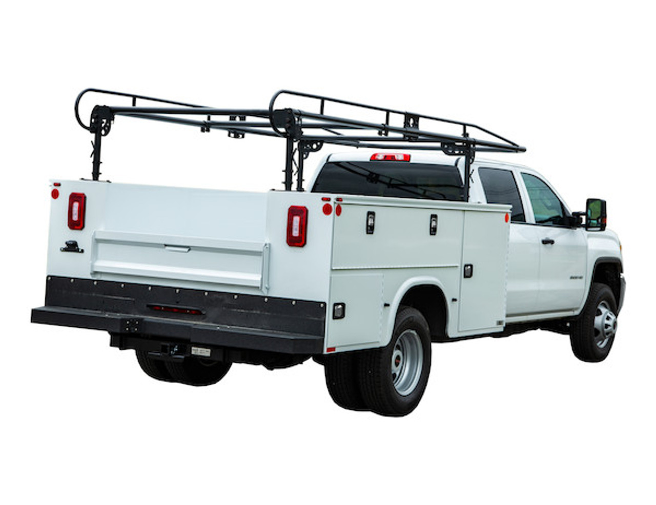 BUYERS 1501250 13-1/2 Foot Black Service Body Ladder Rack for Movers, Contractors, Construction, Painters Picture # 2
