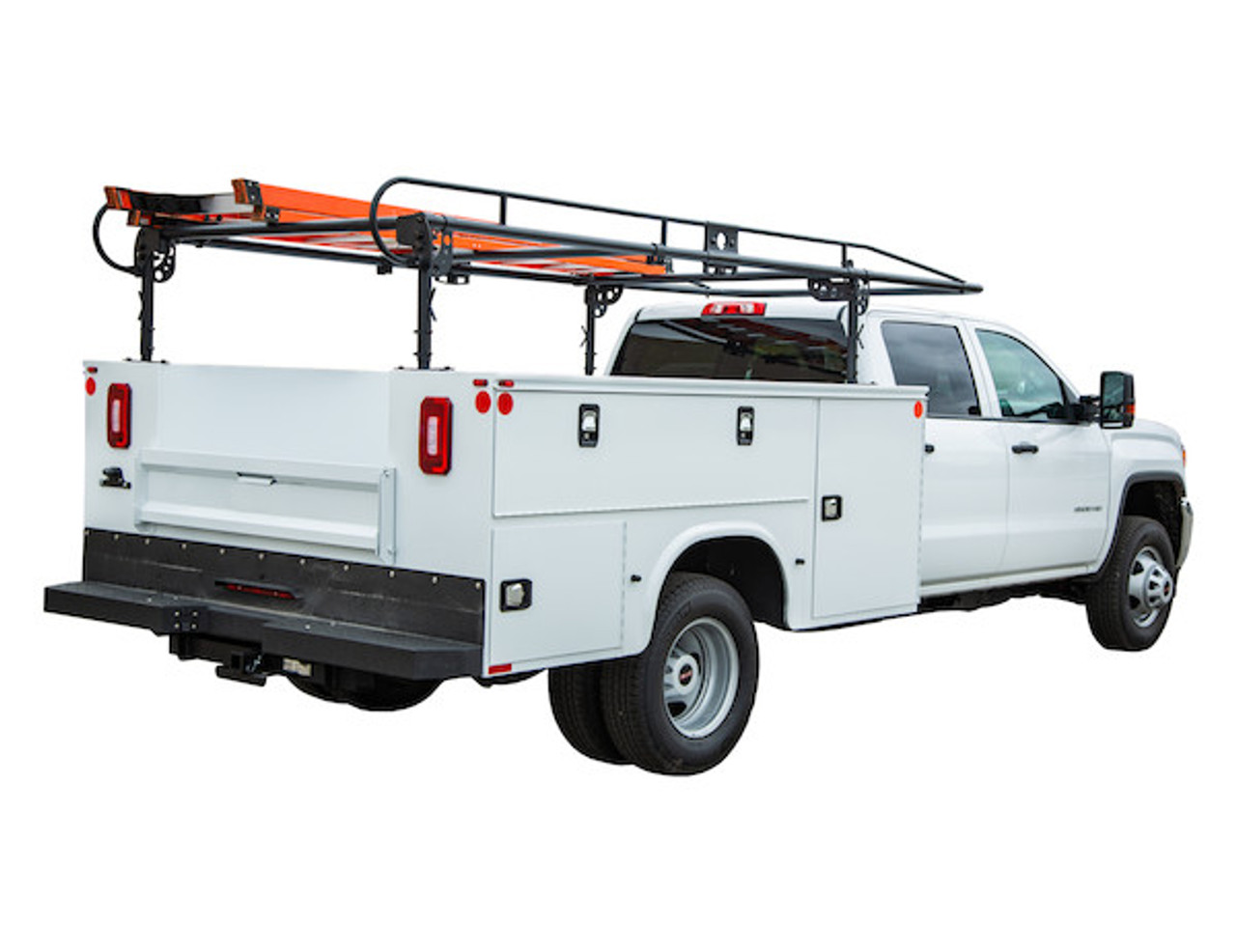 BUYERS 1501250 13-1/2 Foot Black Service Body Ladder Rack for Movers, Contractors, Construction, Painters Picture # 3