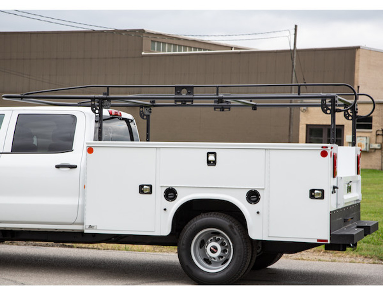 BUYERS 1501250 13-1/2 Foot Black Service Body Ladder Rack for Movers, Contractors, Construction, Painters Picture # 4