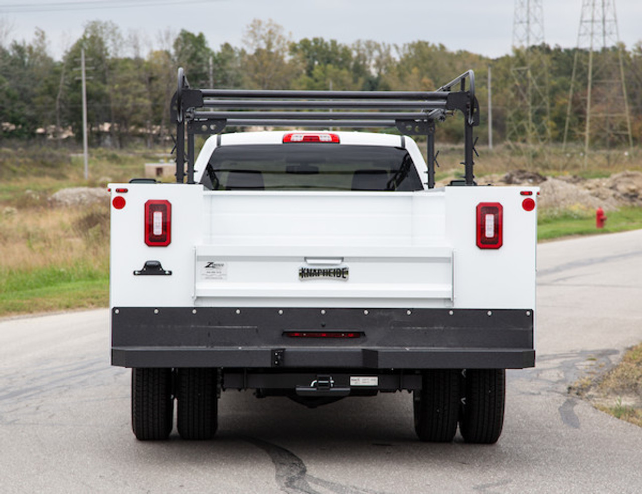 BUYERS 1501250 13-1/2 Foot Black Service Body Ladder Rack for Movers, Contractors, Construction, Painters Picture # 5