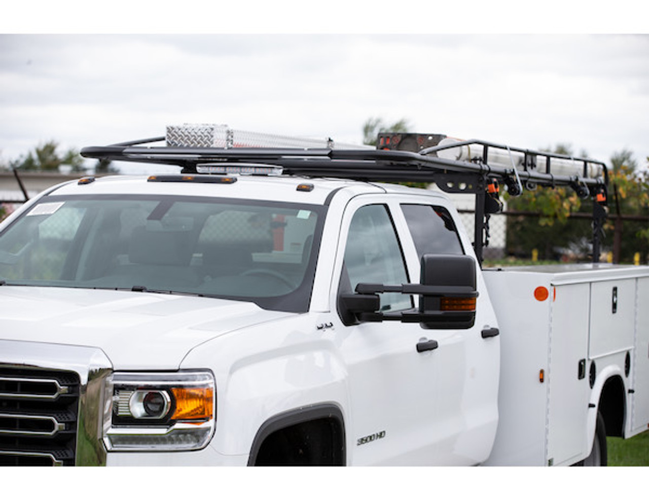 BUYERS 1501250 13-1/2 Foot Black Service Body Ladder Rack for Movers, Contractors, Construction, Painters Picture # 7