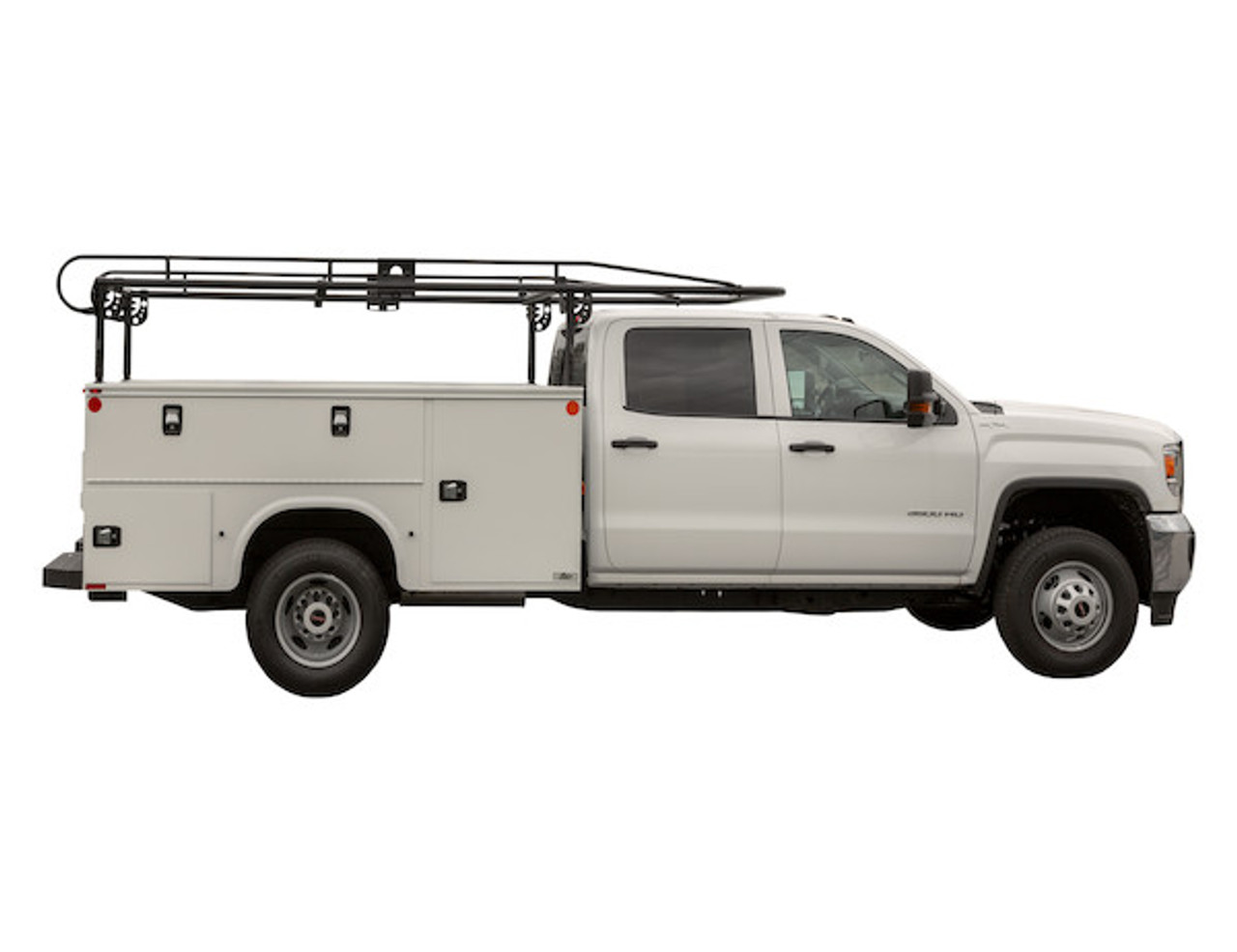 BUYERS 1501250 13-1/2 Foot Black Service Body Ladder Rack for Movers, Contractors, Construction, Painters Picture # 9