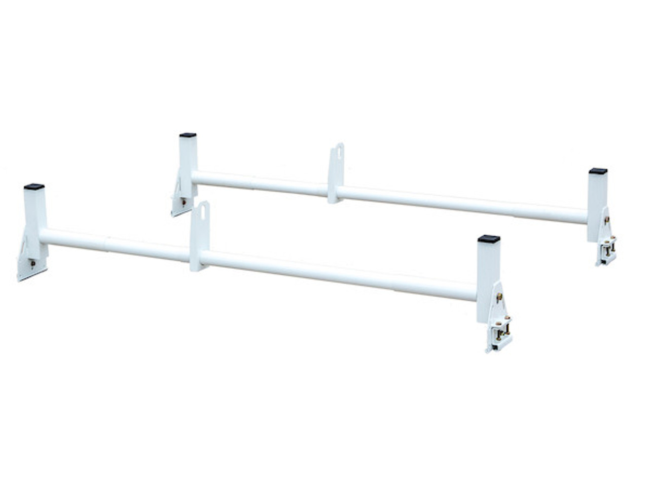 BUYERS 1501310 White Van Ladder Rack Set - 2 Bars And 2 Clamps Picture # 1