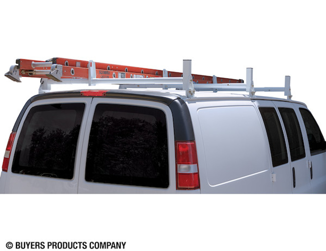 BUYERS 1501310 White Van Ladder Rack Set - 2 Bars And 2 Clamps Picture # 3