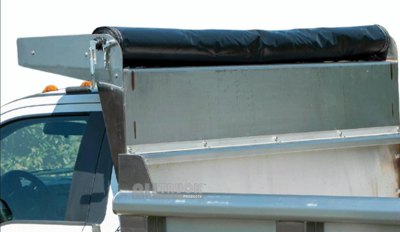 Premium steel mounting brackets locking mesh tarp roller kit for dump trucks and trailers 1