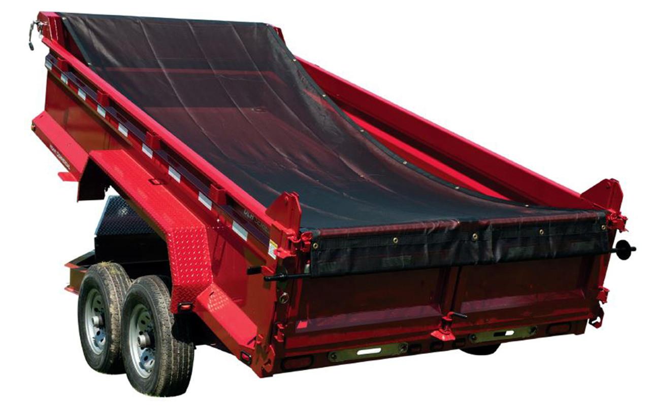 Premium steel mounting brackets locking mesh tarp roller kit for dump trucks and trailers 11