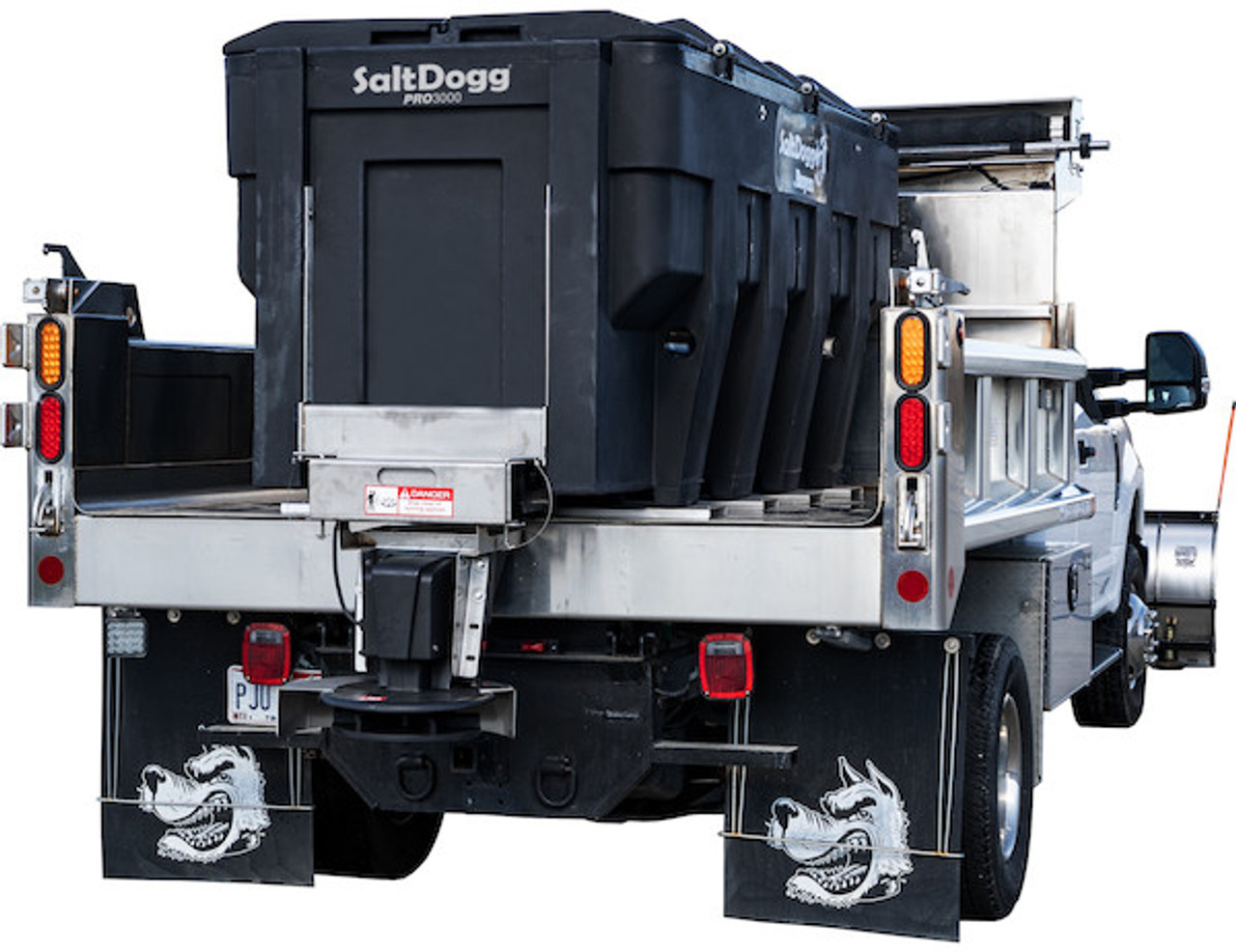 PRO3000CH BUYERS SALTDOGG ELECTRIC POLY HOPPER SPREADER WITH CONVEYOR CHAIN 1