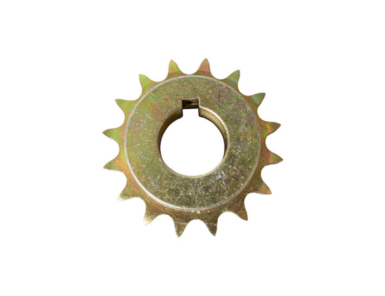 BUYERS 1410702 Replacement 1 Inch 16-Tooth Yellow Zinc Gearbox Sprocket With Set Screws For #40 Chain For SaltDogg Salt Spreader