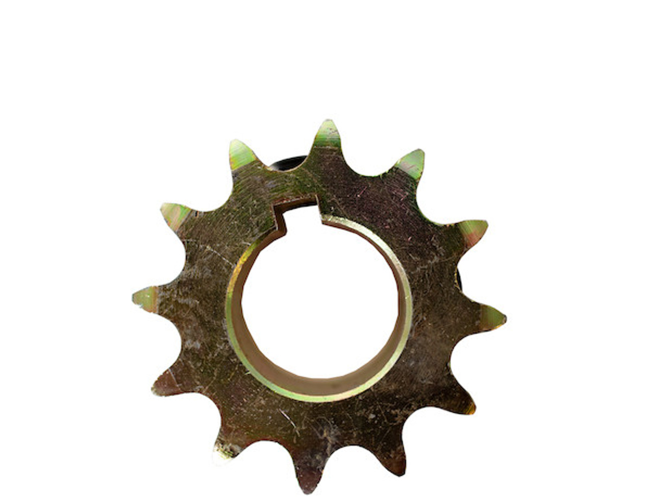 BUYERS 1411915 Replacement 1 Inch 12-Tooth Yellow Zinc Engine Sprocket With Set Screws For #40 Chain For SaltDogg Salt Spreader 3