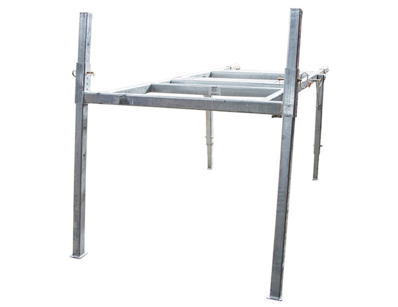 BUYERS 3037146 8 Foot Mid-Size Hot-Dipped Galvanized Spreader Stand for SaltDogg Spreader 1