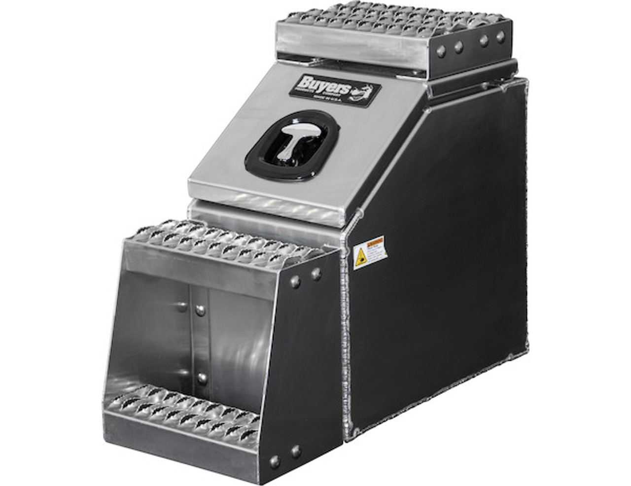 1705280 BUYERS PRODUCTS WideOpen™ Class 8 Step Tool Box For Semi Trucks - 12 Inch Width 1