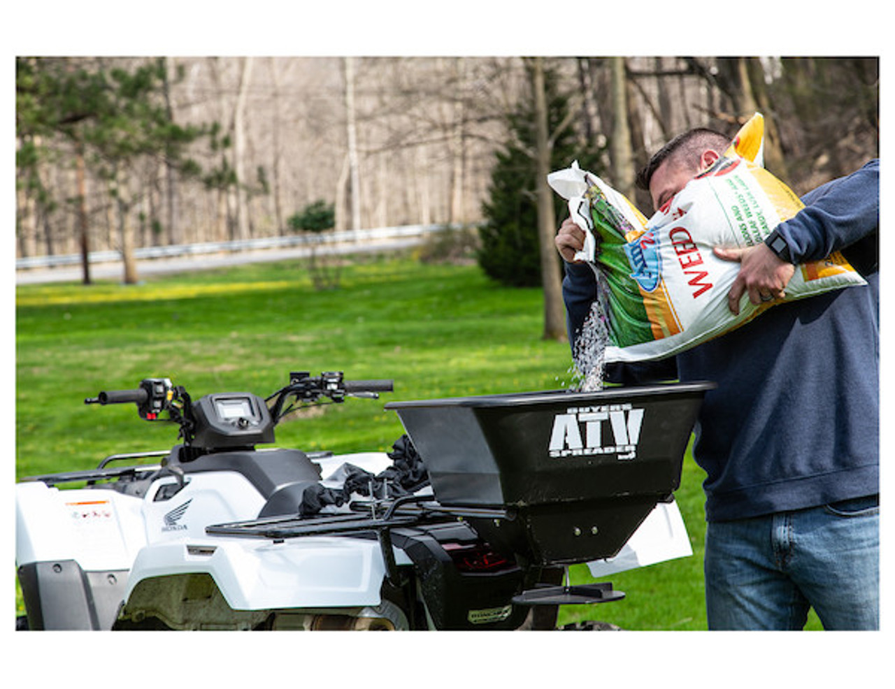 Buyers ATVS100 ATV All Purpose Spreader - Horizontal Mount 2
