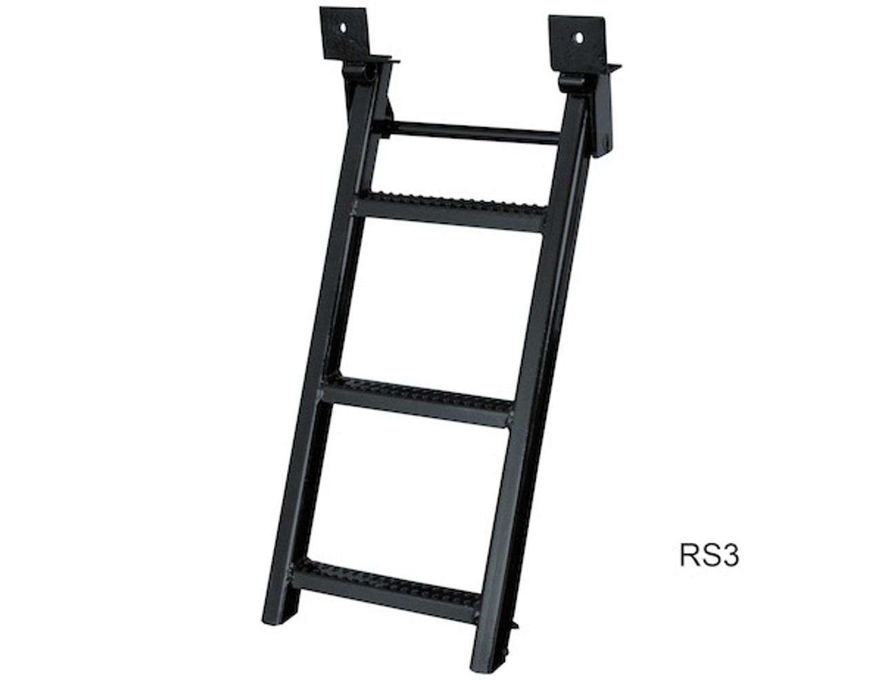 RS3 Buyers 3-Rung Black Retractable Truck Steps With Nonslip Tread - 17.38 X 35 Inch