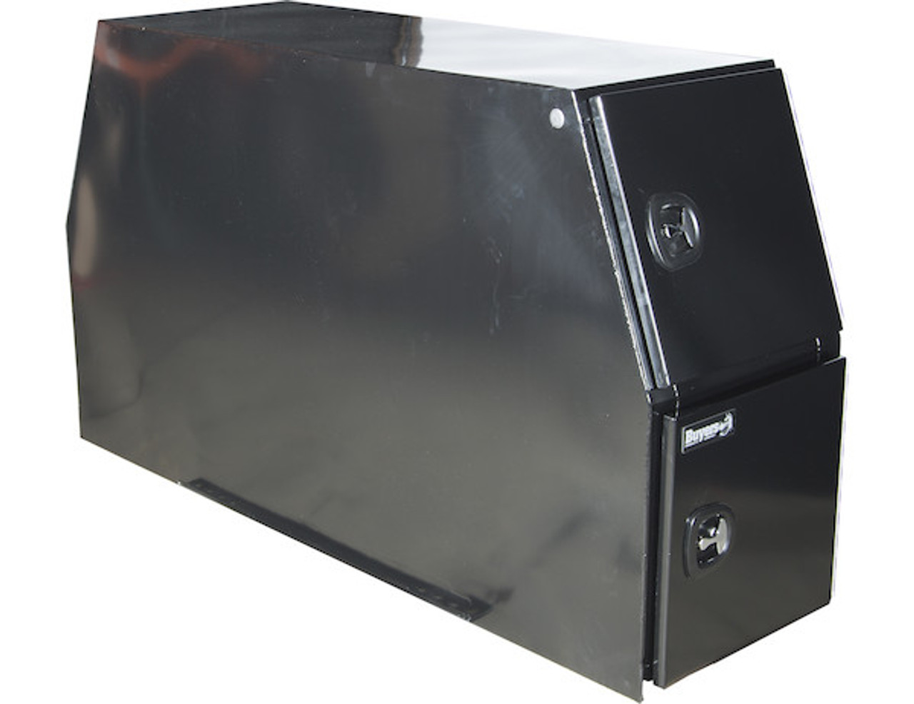 "BP824624B BUYERS BLACK STEEL BACKPACK TRUCK BOX WITH DIE CAST COMPRESSION LATCH 46""Hx24""Dx82""W Picture # 3"