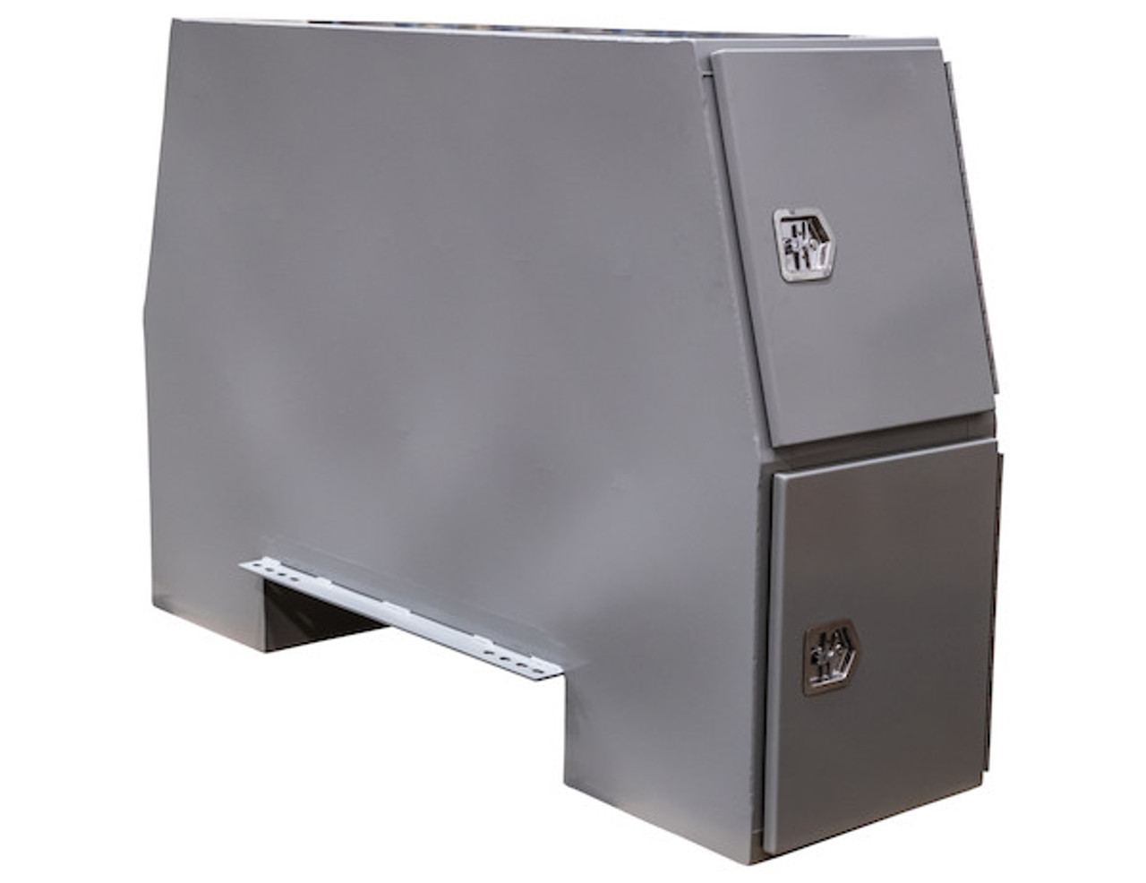 """BP855524P BUYERS PRIMED STEEL BACKPACK TRUCK BOX WITH OFFSET FLOOR 55""""H x 24""""D x 85""""W Picture # 1"""