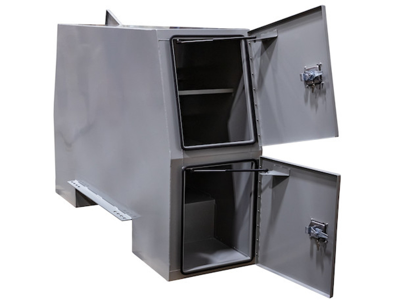 """BP855524P BUYERS PRIMED STEEL BACKPACK TRUCK BOX WITH OFFSET FLOOR 55""""H x 24""""D x 85""""W Picture # 4"""