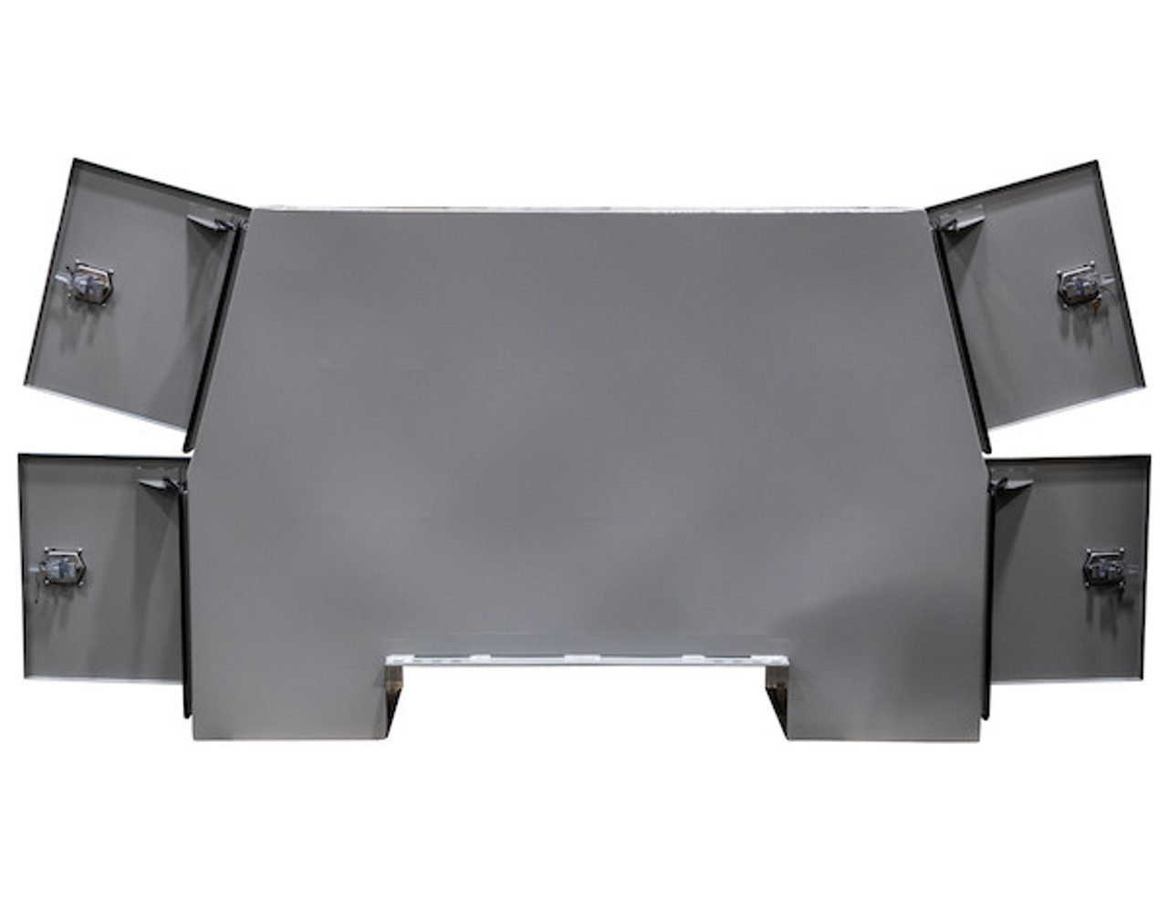 """BP855524P BUYERS PRIMED STEEL BACKPACK TRUCK BOX WITH OFFSET FLOOR 55""""H x 24""""D x 85""""W Picture # 5"""