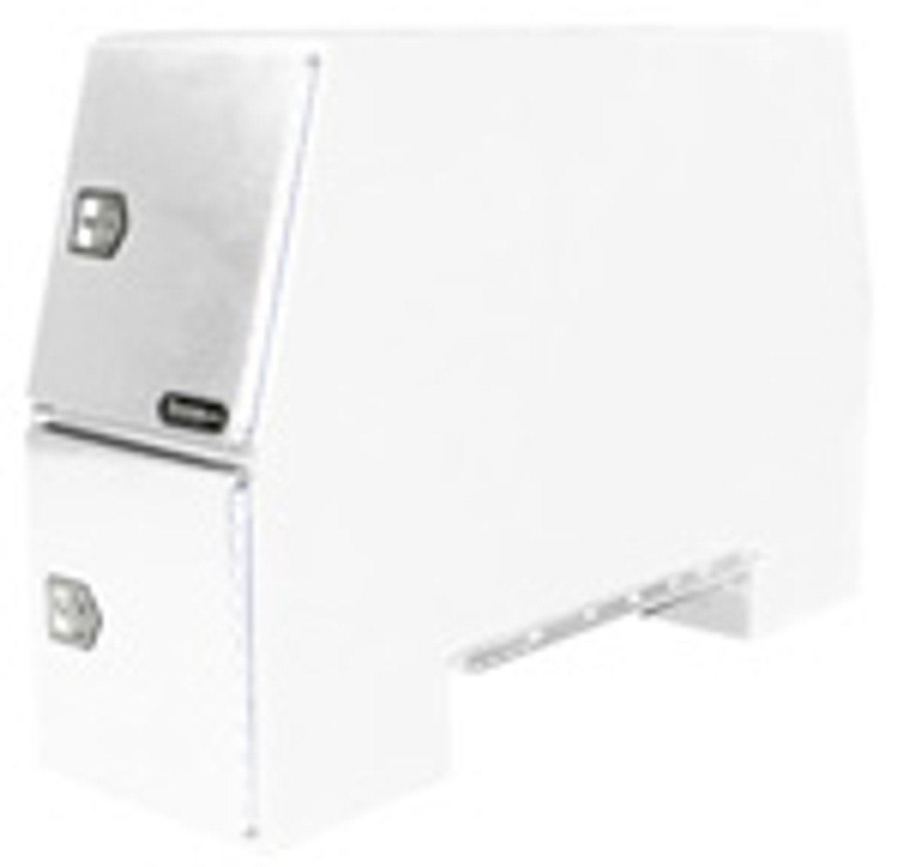 BP855524W BUYERS SALTDOGG WHITE STEEL BACKPACK TRUCK BOX WITH OFFSET FLOOR