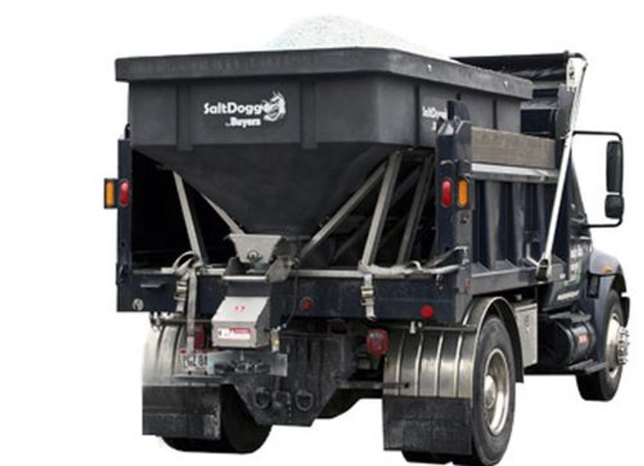 SHPE6000 BUYERS SALTDOGG ELECTRIC POLY HOPPER SPREADER WITH AUGER