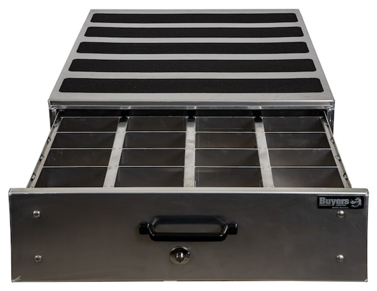 1718030 BUYERS SMOOTH ALUMINUM SLIDE OUT TRUCK BED TOOLBOX