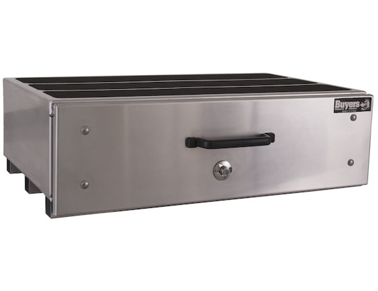 1718020 BUYERS SMOOTH ALUMINUM SLIDE OUT TRUCK BED TOOLBOX
