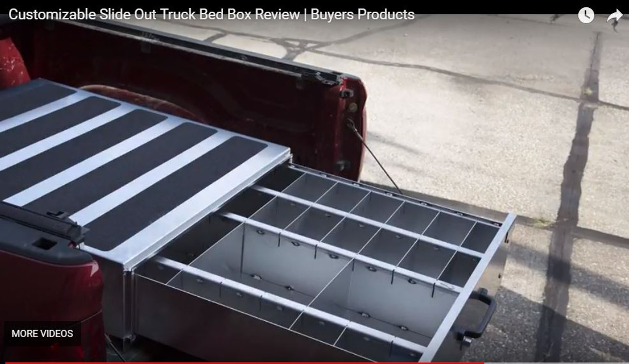 1718015 BUYERS SMOOTH ALUMINUM SLIDE OUT TRUCK BED TOOLBOX