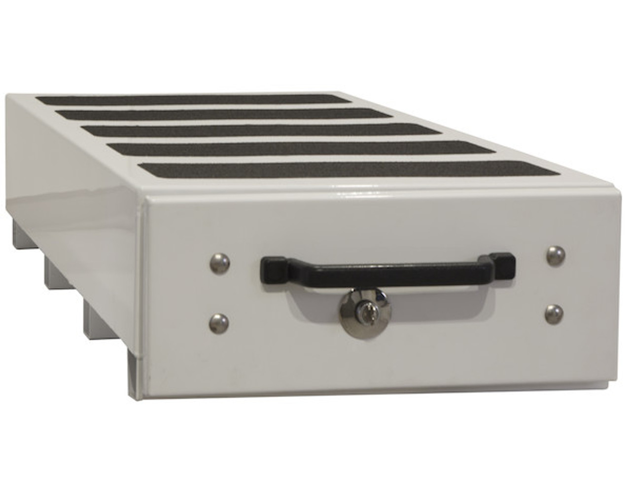 """1718430 BUYERS SMOOTH WHITE ALUMINUM SLIDE OUT TRUCK BED TOOLBOX 12""""Hx48""""Dx40""""W PICTURE # 3"""