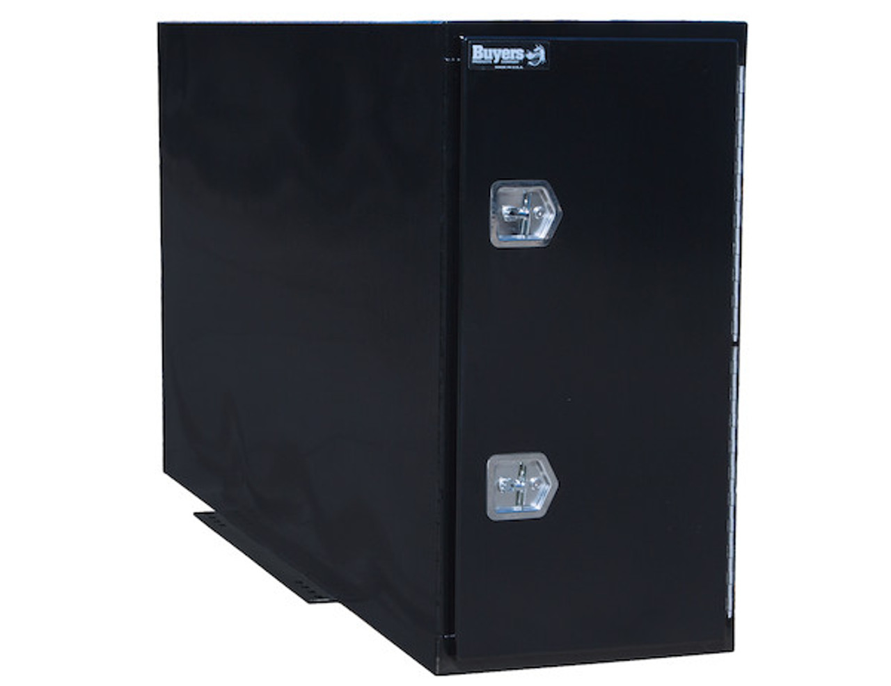 """BP964824B Buyers Black Steel Straight Side Backpack Truck Toolbox - T-Handle Latch 48""""Hx24""""Dx96""""W  Picture # 1"""