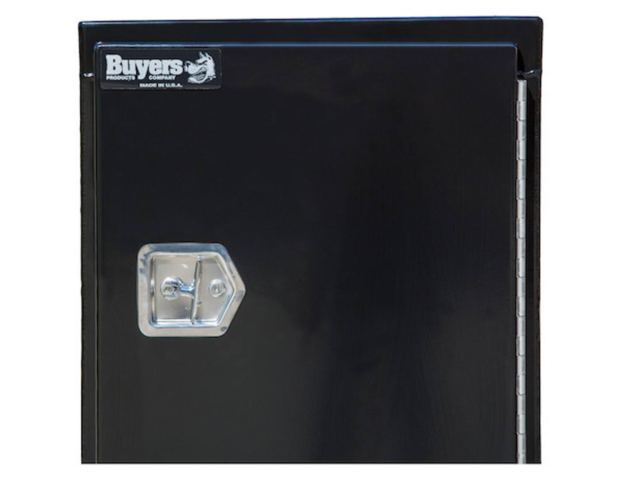 """BP964824B Buyers Black Steel Straight Side Backpack Truck Toolbox - T-Handle Latch 48""""Hx24""""Dx96""""W  Picture # 3"""